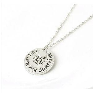 Jewelry - Silver You Are My Sunshine Necklace
